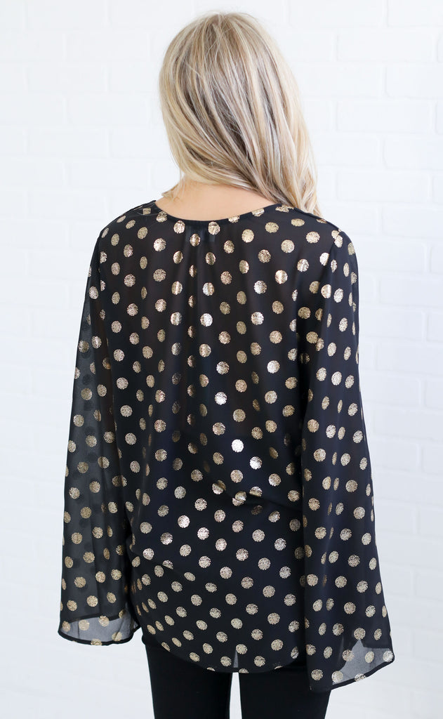 show me your mumu: mackenzie top - cosmic dot gold