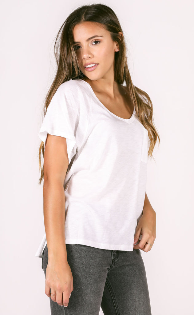 main squeeze pocket tee - ivory