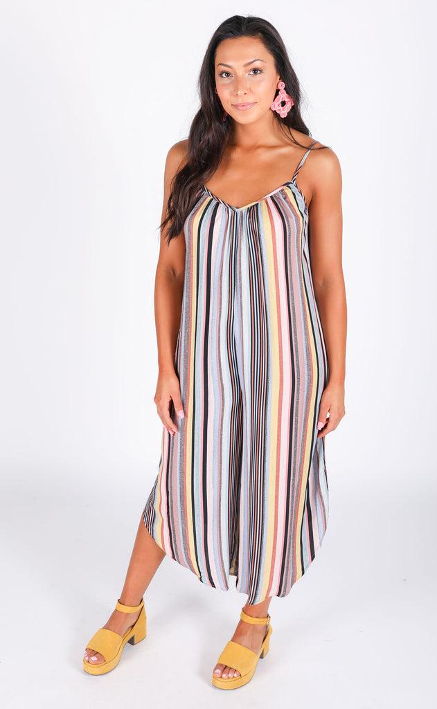 make a wish striped jumpsuit