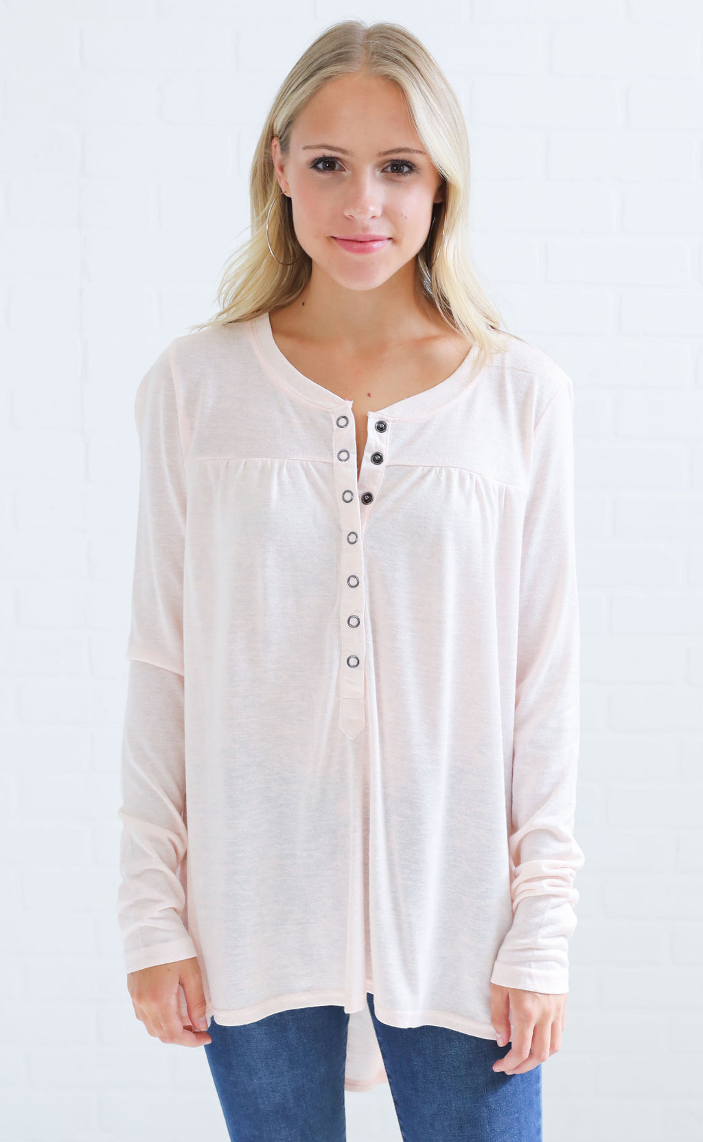 make it snappy button up top - blush