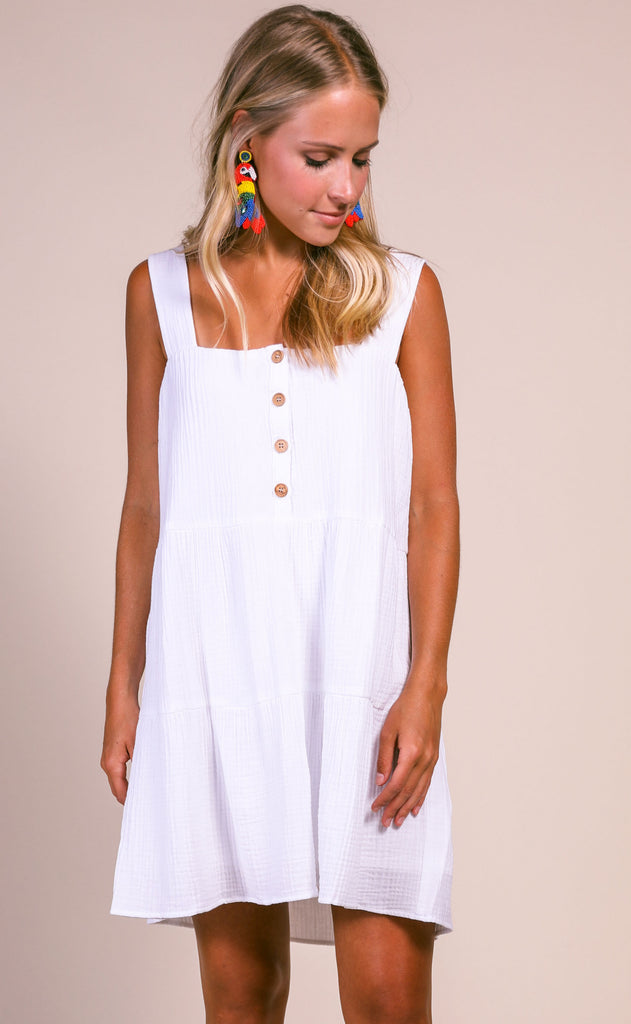 show me your mumu: marisa dress - white gauze