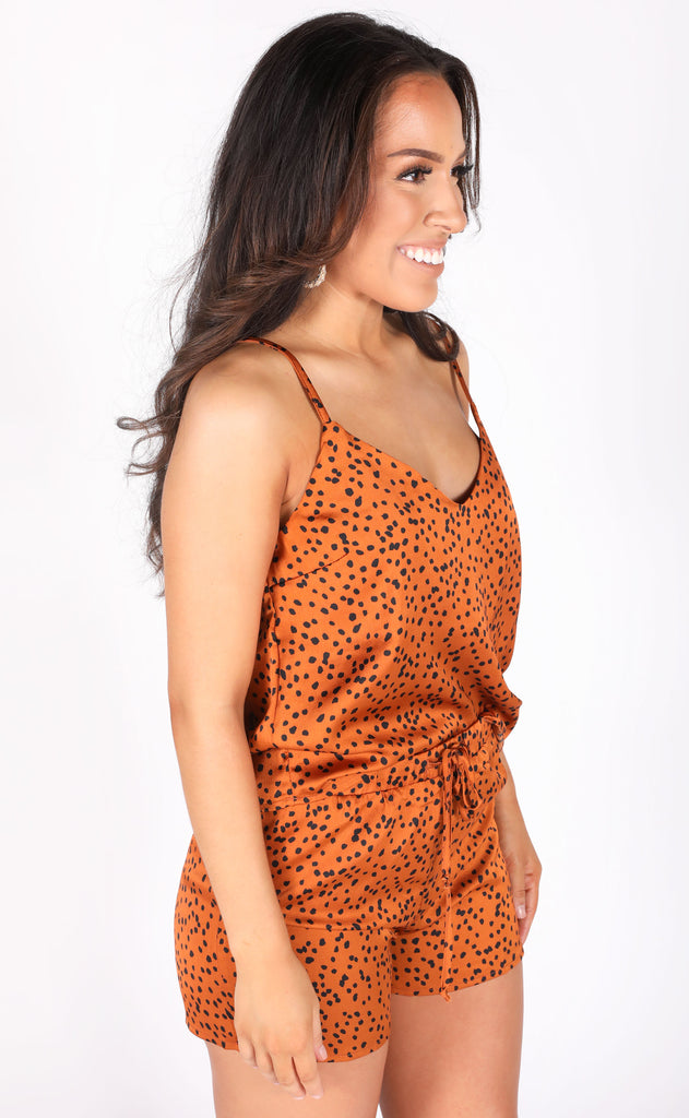 matchy matchy two piece set - rust