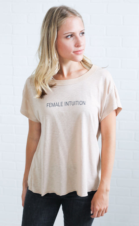mate the label: shay crop tee - female intuition