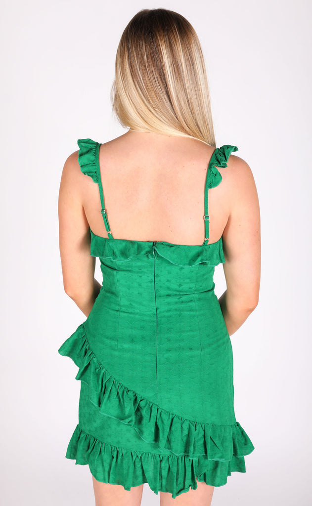 maybe baby ruffle dress - green