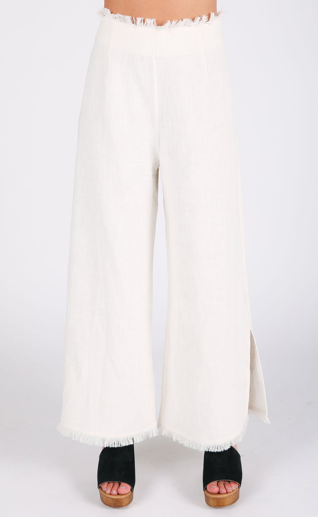 melissa fringed wide leg pants