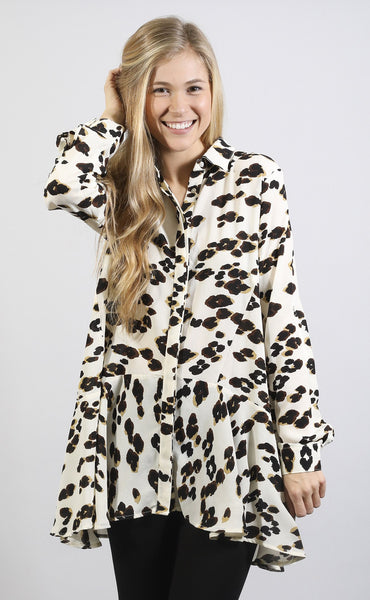meow moment printed tunic