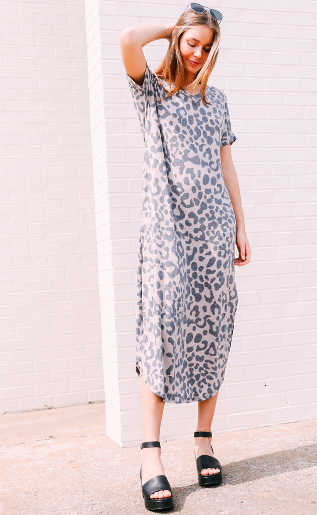 meow or never maxi dress