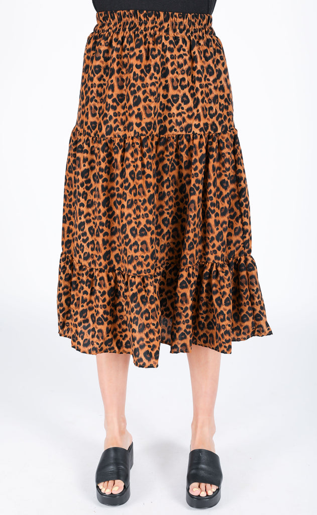 meow or never midi skirt - brown