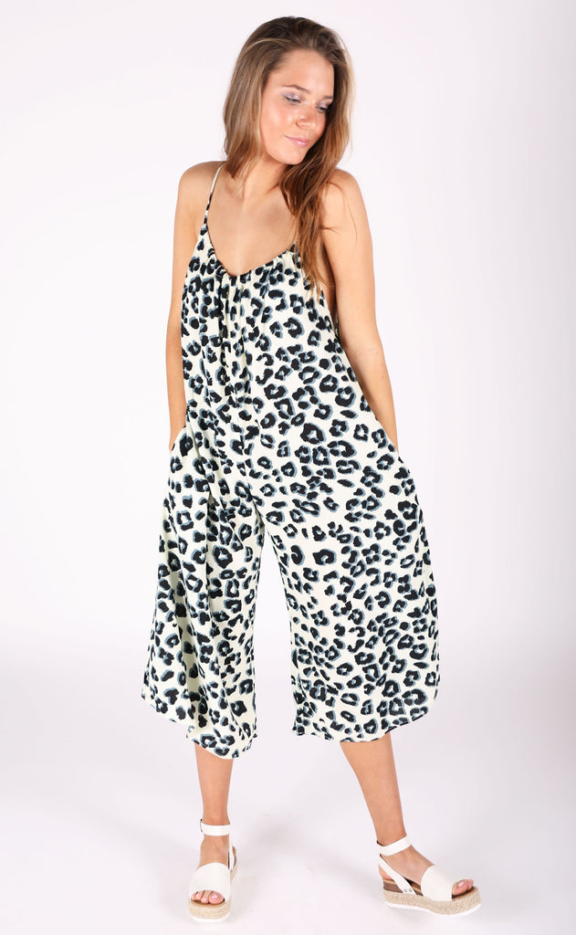 meow printed jumpsuit