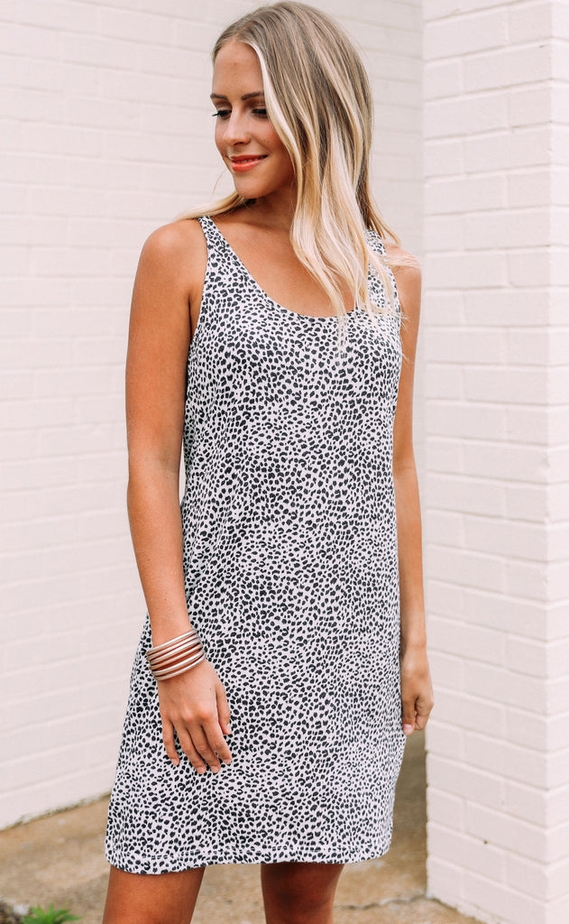 z supply: the mini leopard dress - off white