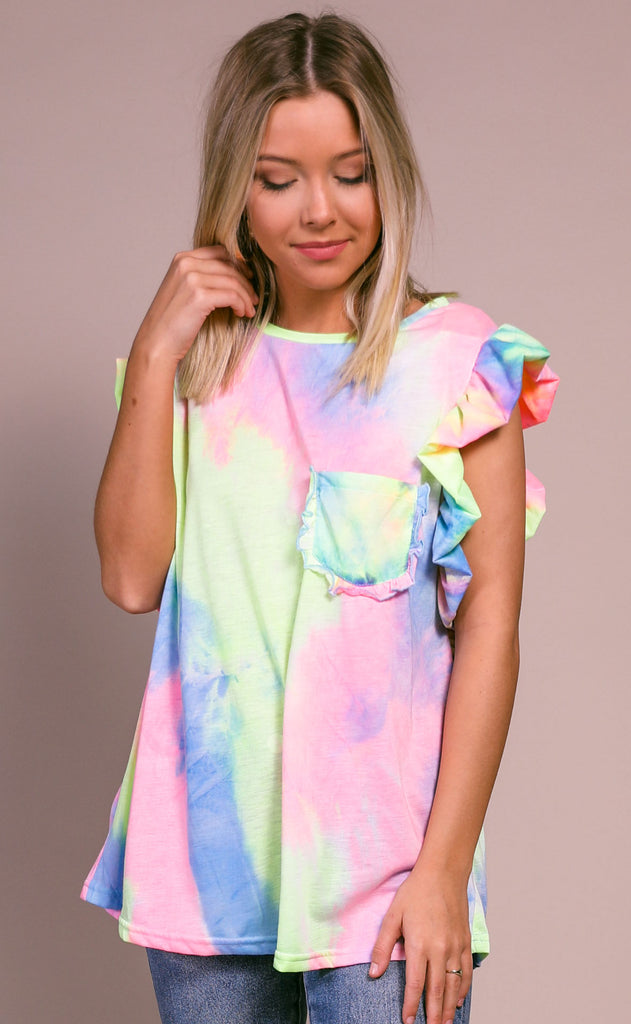 mirage tie dye top