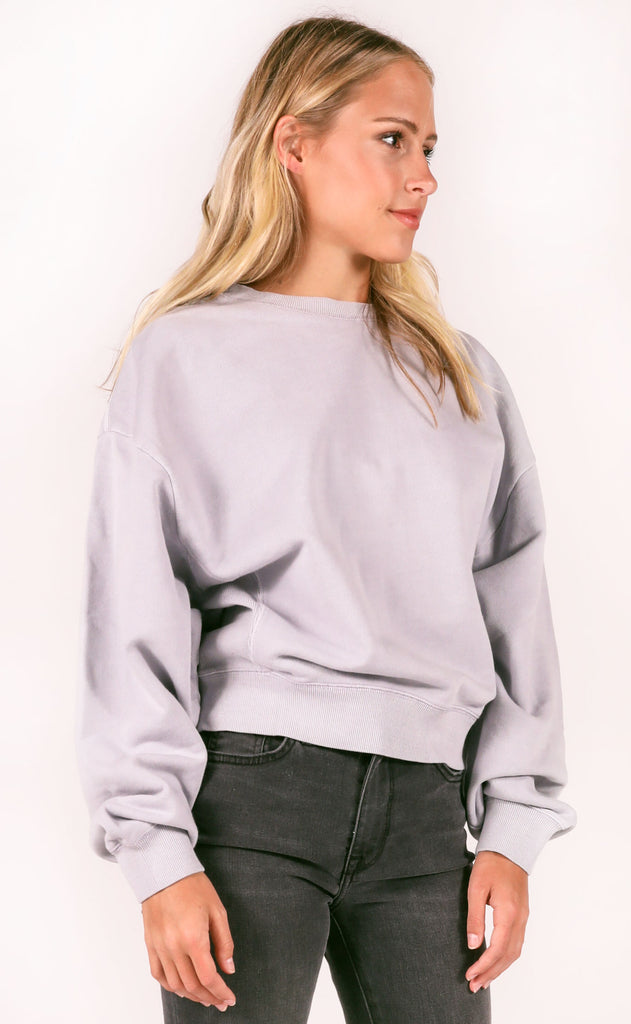 amuse society: misty morning pullover - slate