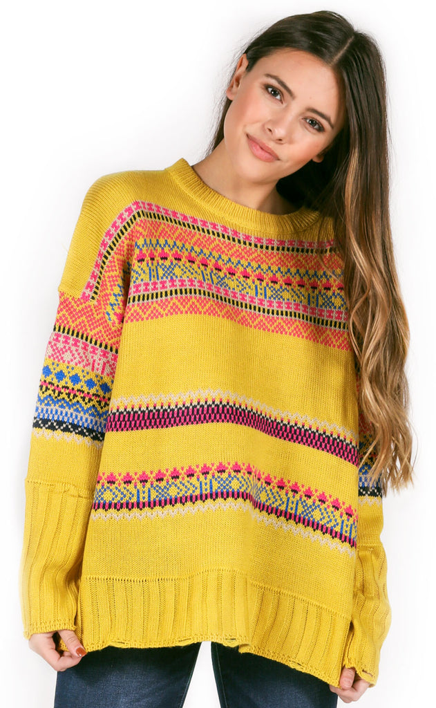 mix it up knit sweater
