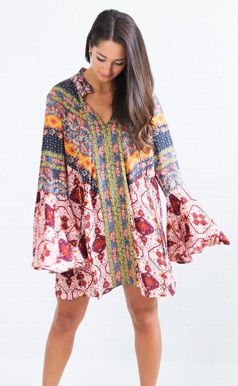 mix it up printed dress