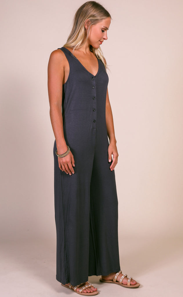 z supply: the mojave jumpsuit - washed black