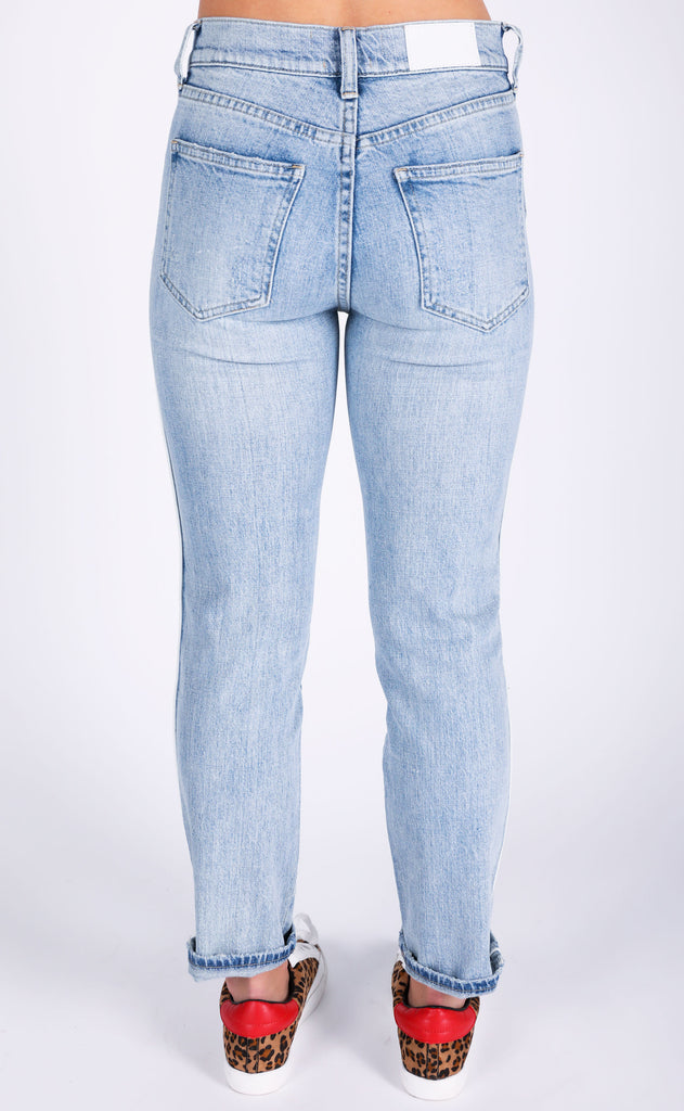 monroe high rise cigarette jeans - union city