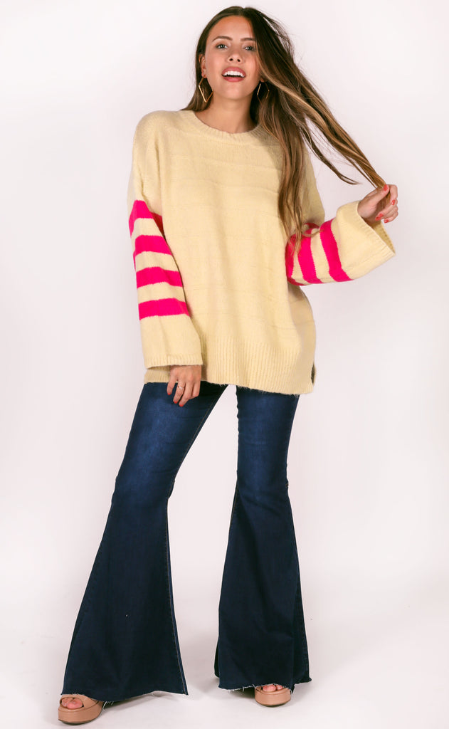 more chill striped sweater