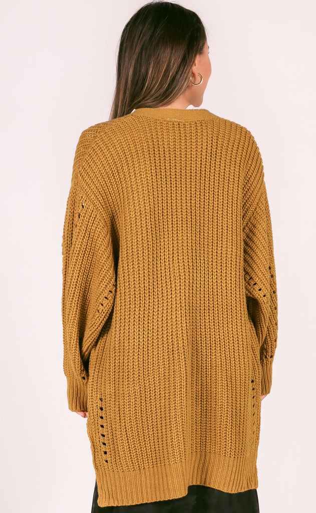 morning roast knit cardigan