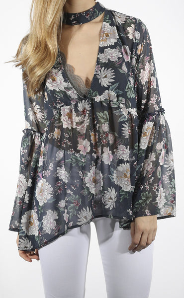 mother nature floral top