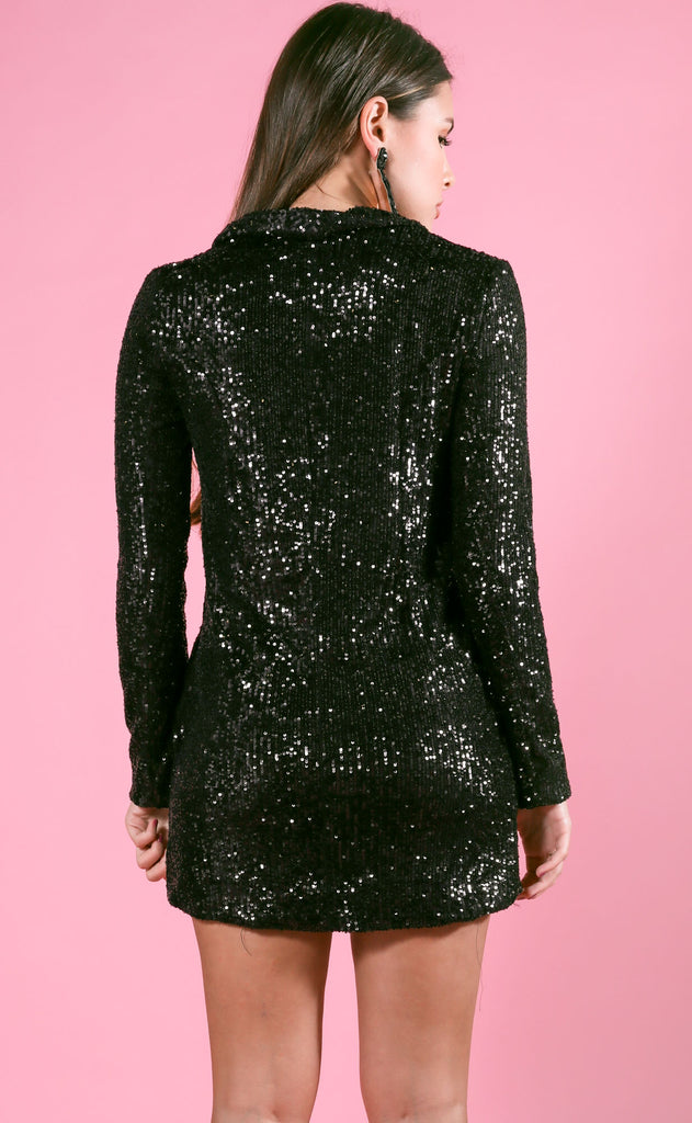 show me your mumu: bazel blazer dress - limelight sequins