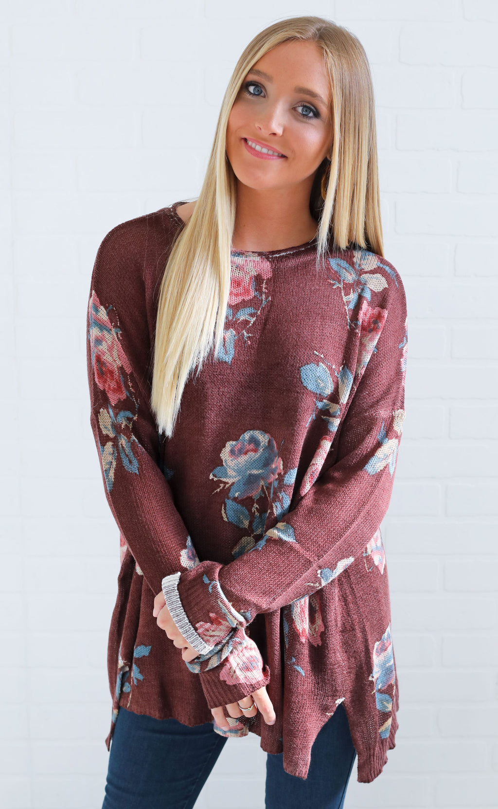 show me your mumu: bonfire sweater - chocolate and roses knit