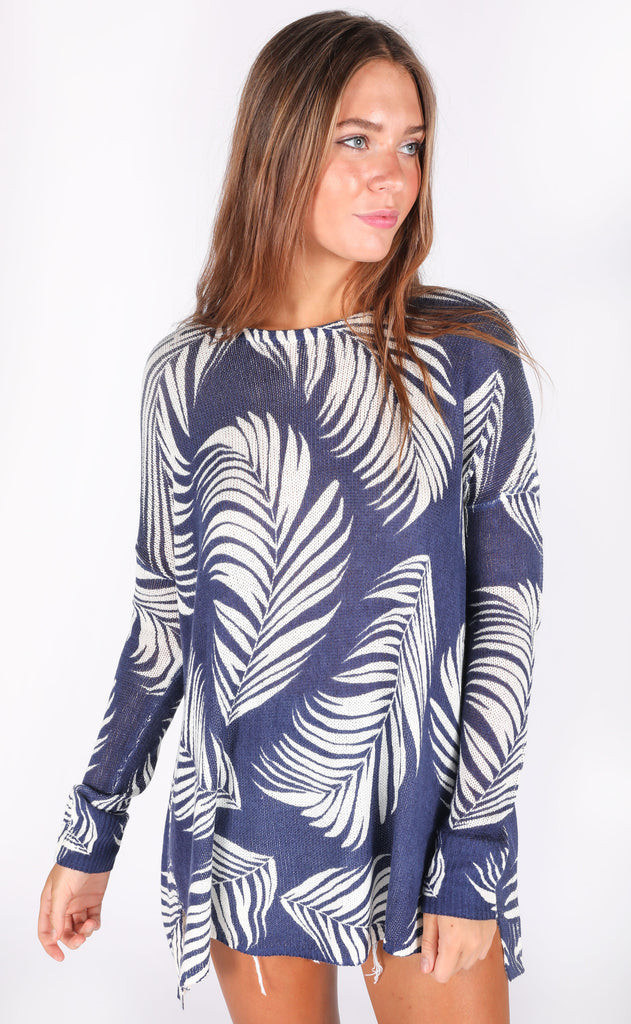 show me your mumu: bonfire sweater - boca palm knit