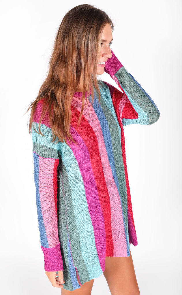 show me your mumu: bonfire sweater - madly stripe knit