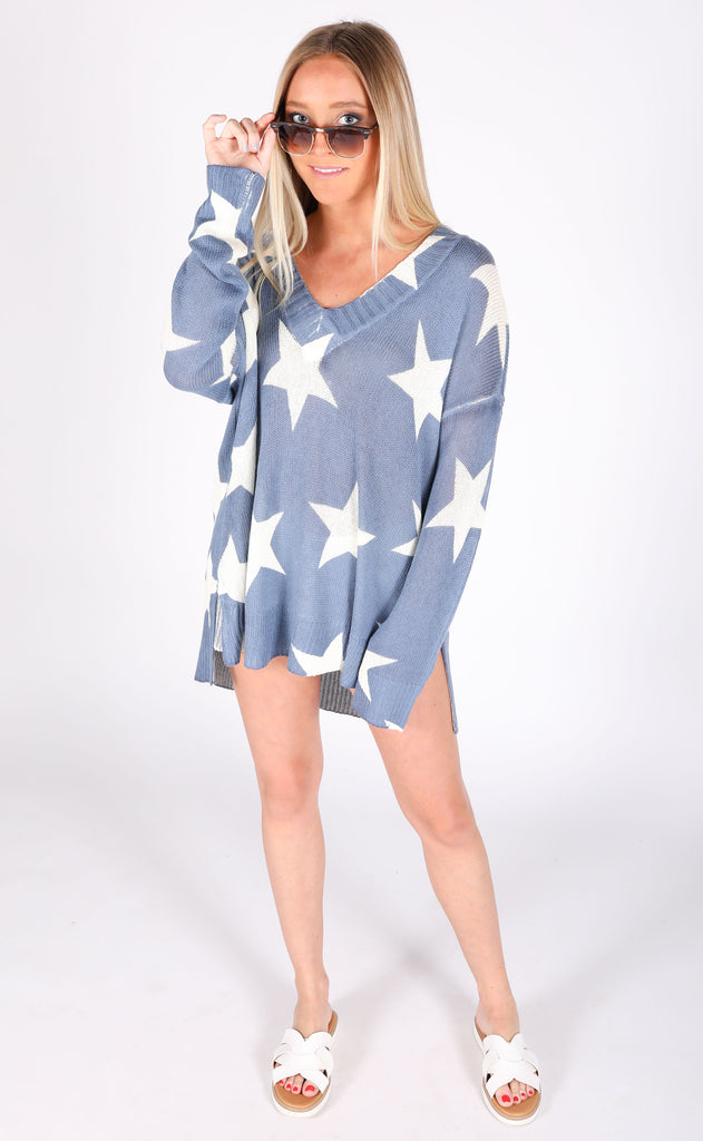 show me your mumu: cliffside sweater - star gaze