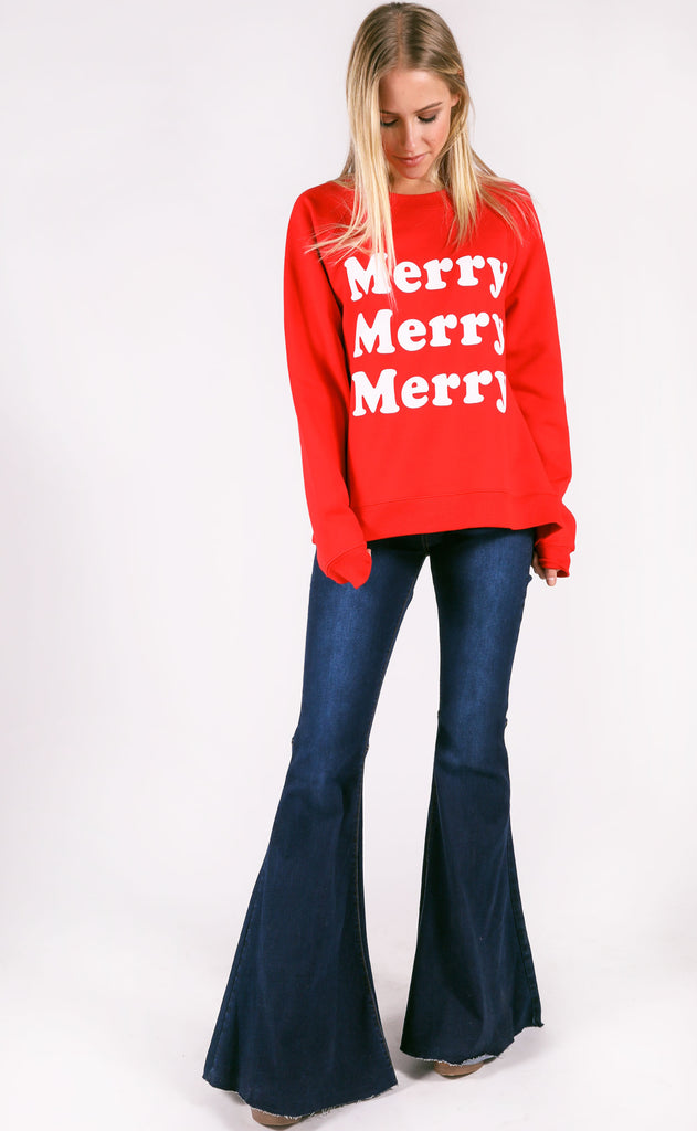 show me your mumu: cole sweater - merry merry graphic