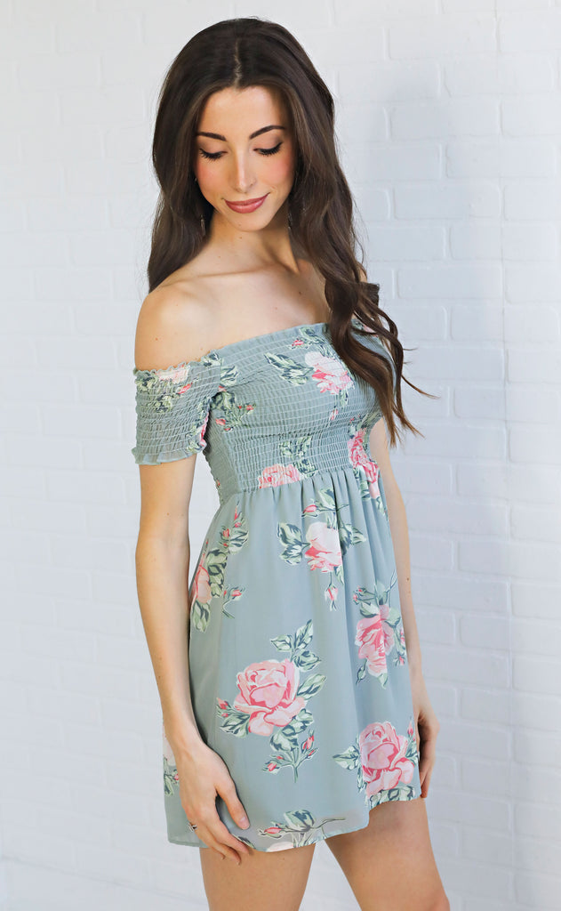show me your mumu: dolly smocked dress - sweetheart sage