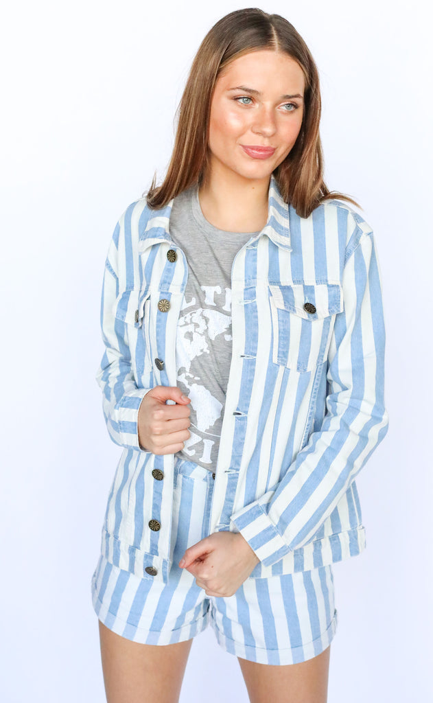 show me your mumu: drine jacket - marina stripe