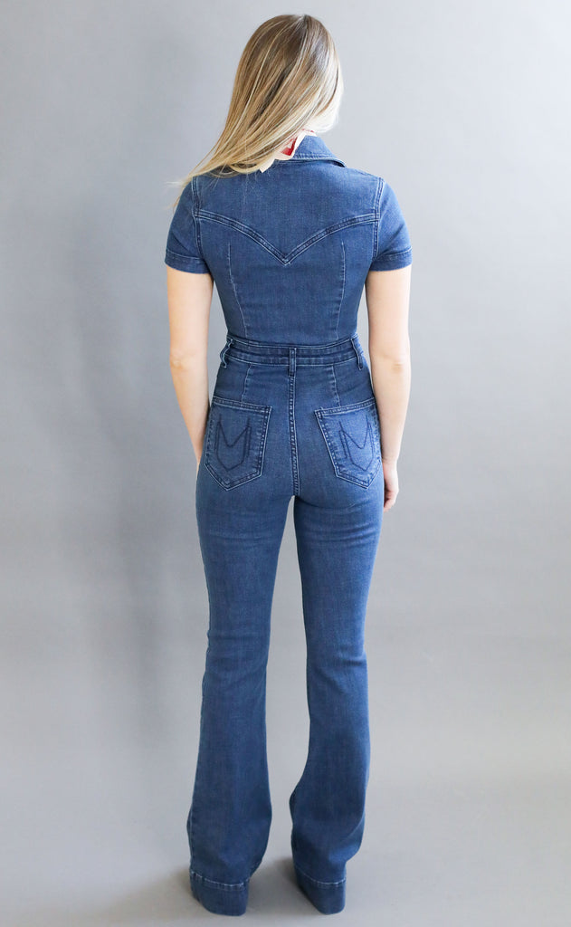 show me your mumu: everhart jumpsuit - lunar blue