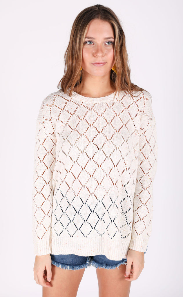 show me your mumu: hattie sweater - sunset confetti knit