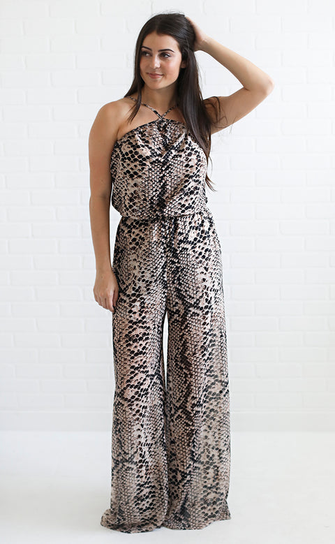 show me your mumu: jennifer jumpsuit - snake n shake