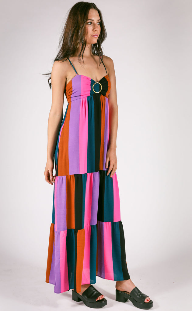 show me your mumu: juniper maxi dress - mezcal stripe