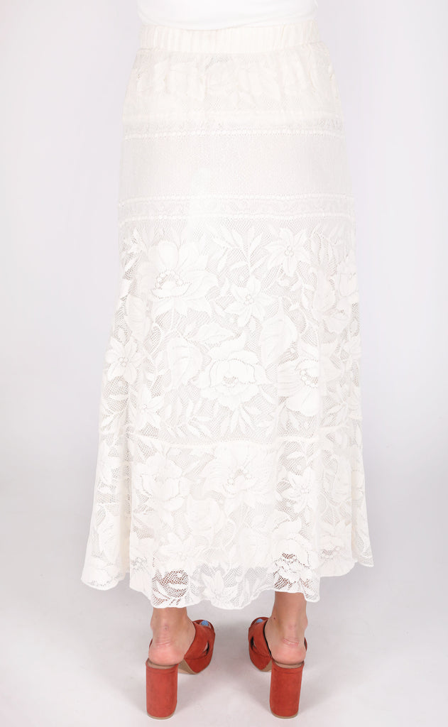show me your mumu: kellen skirt dress - moonlight roses lace cream