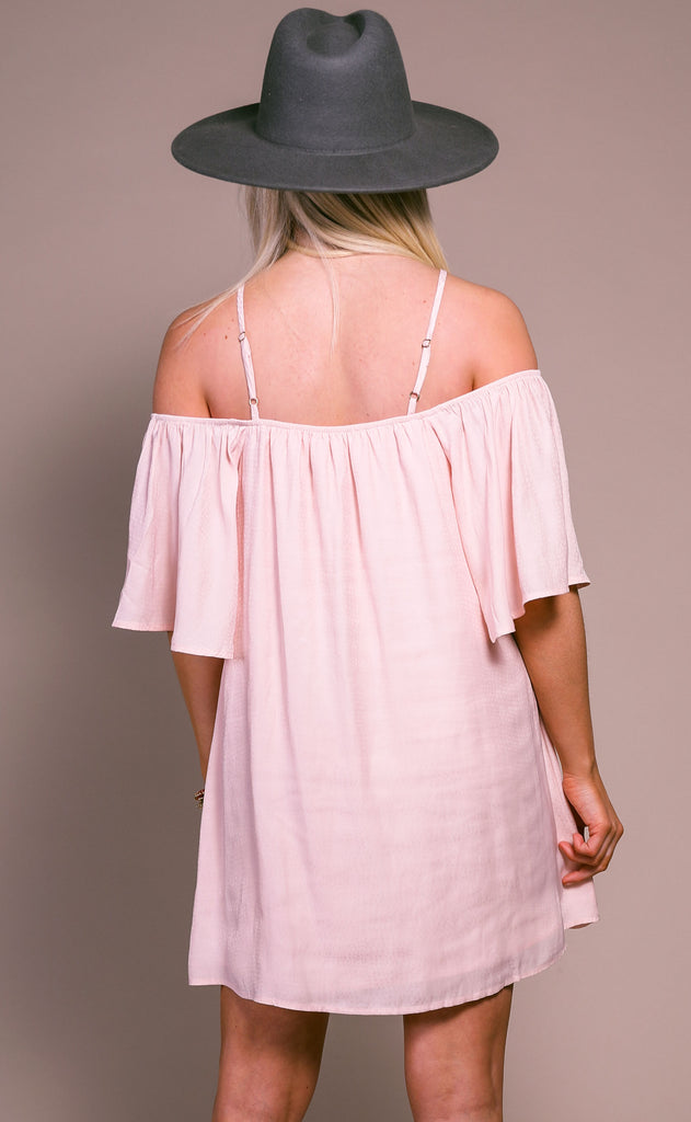 show me your mumu: lindsay halter dress - speckle dots pink