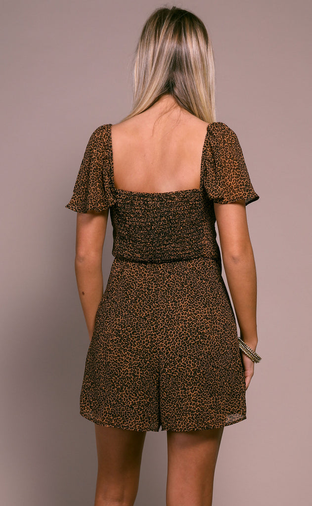 show me your mumu: kinsley romper - lucky leopard