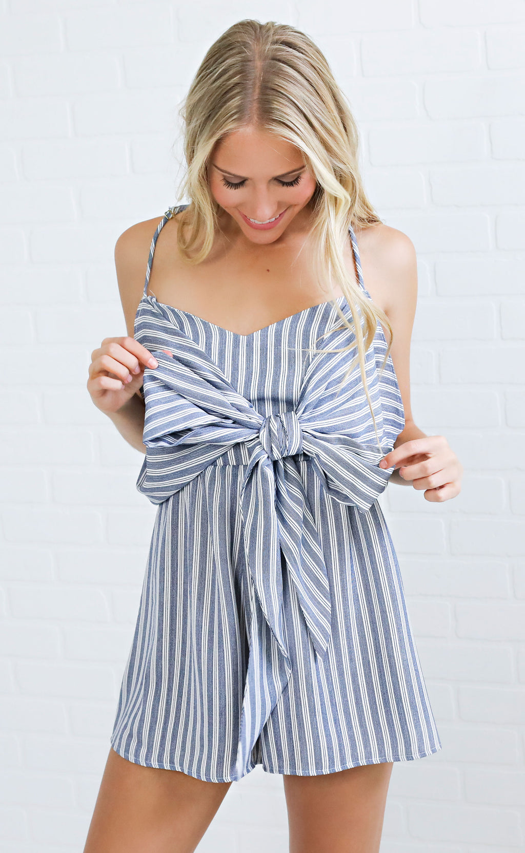 show me your mumu: melissa romper - she sails stripe flux