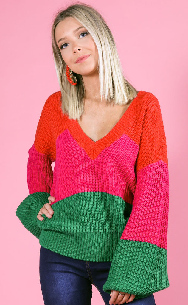 show me your mumu: mina sweater - feliz stripe