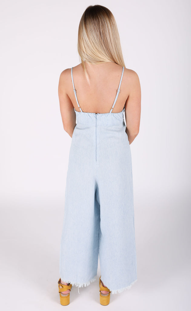 show me your mumu: paolo playsuit - shore chambray
