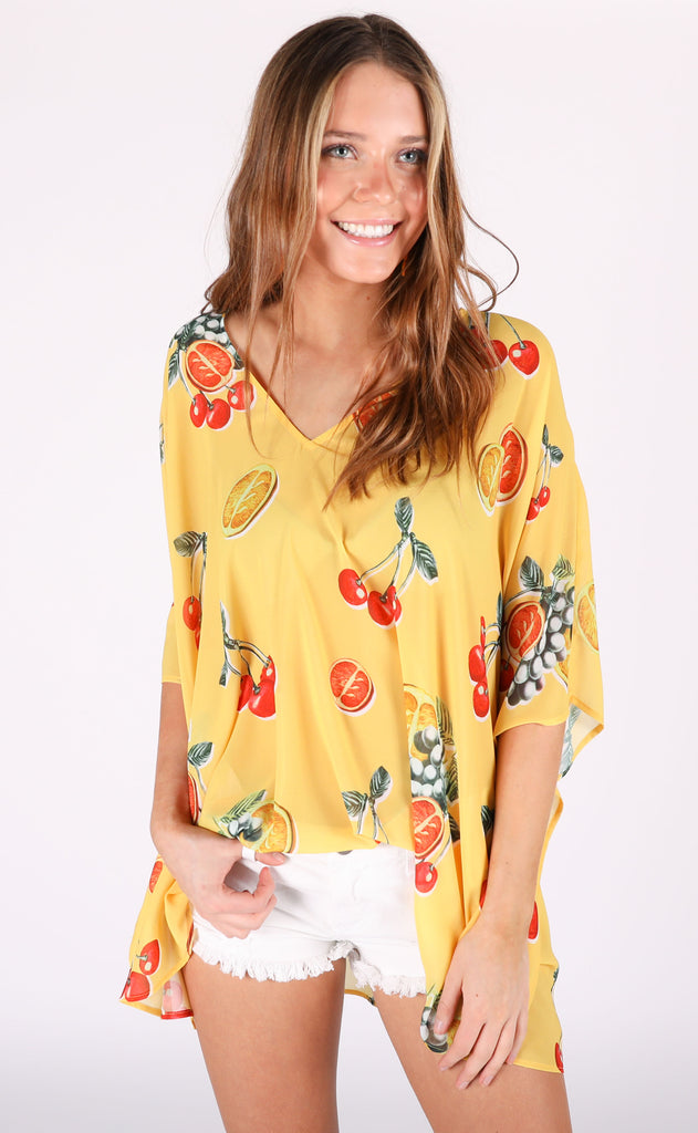 show me your mumu: peta tunic - fruit basket
