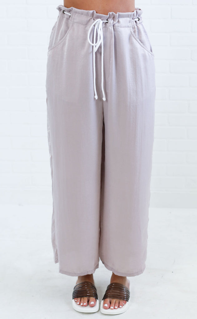 show me your mumu: peterson pants - rose gold sheen