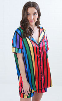 show me your mumu: slumber pj set - rainbow parade print
