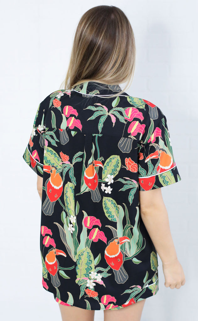 show me your mumu: slumber pj set - toucan tango