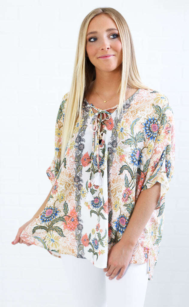 show me your mumu: tennesse tunic - bloomtastic stripe