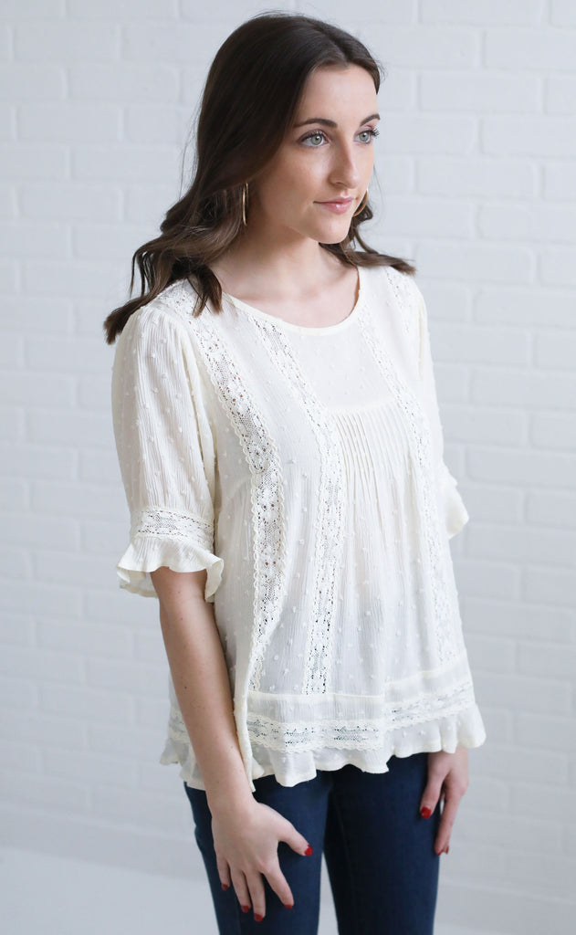 must be love ruffle top