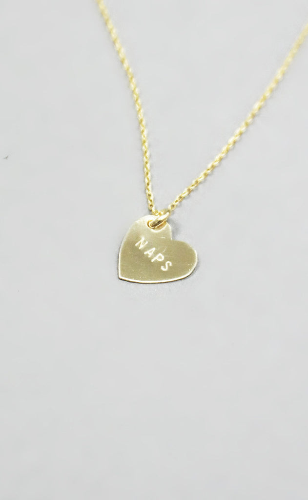 naps heart necklace