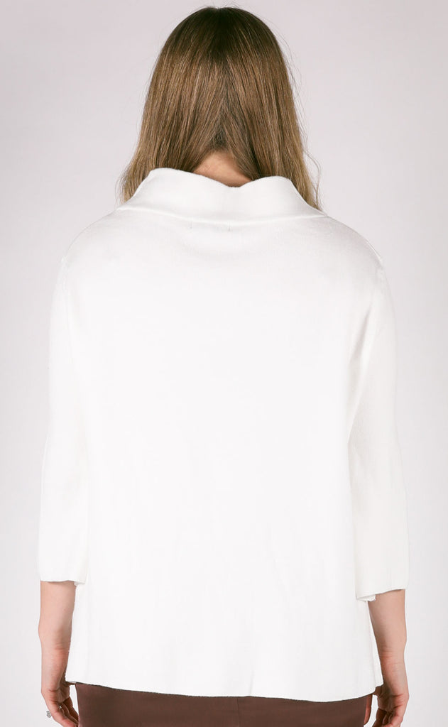 new york minute mock neck sweater - ivory