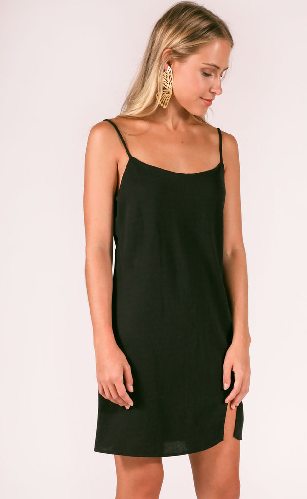 new york slip dress - black